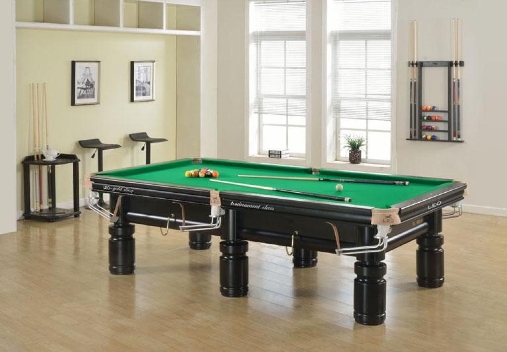 Leo Billiard Table Tripod Table Table Top Black Wood Glue Edge Black 8 Billiard  Table