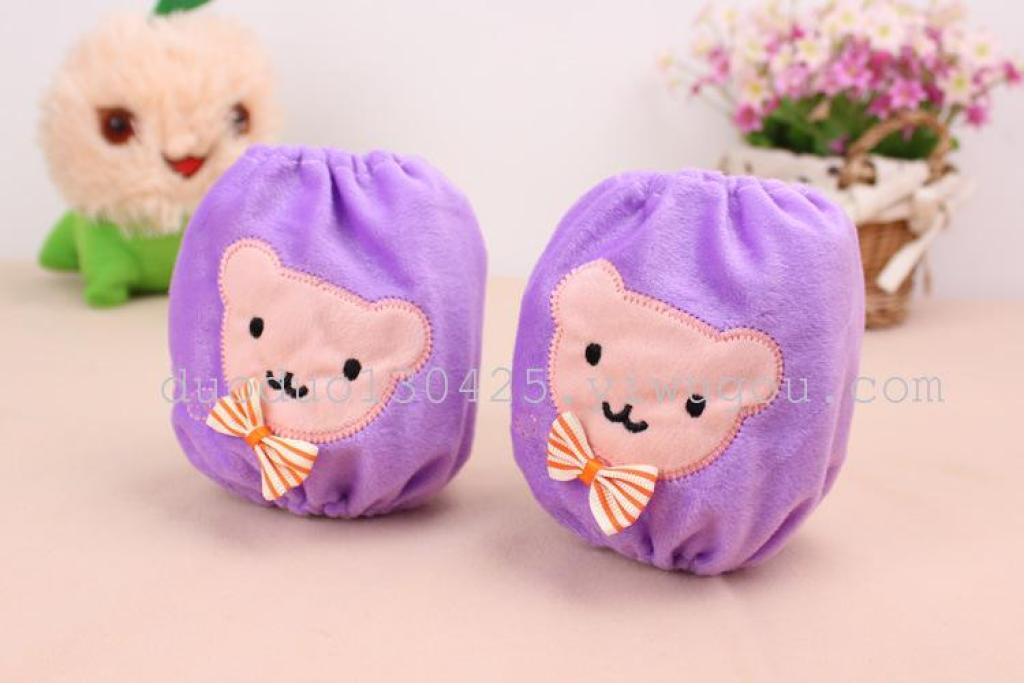 新款儿童袖套 可爱米老鼠宝宝袖套 冬季儿童毛绒卡通短款袖套