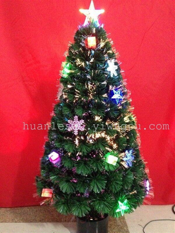 七彩饰品树 光纤圣诞树