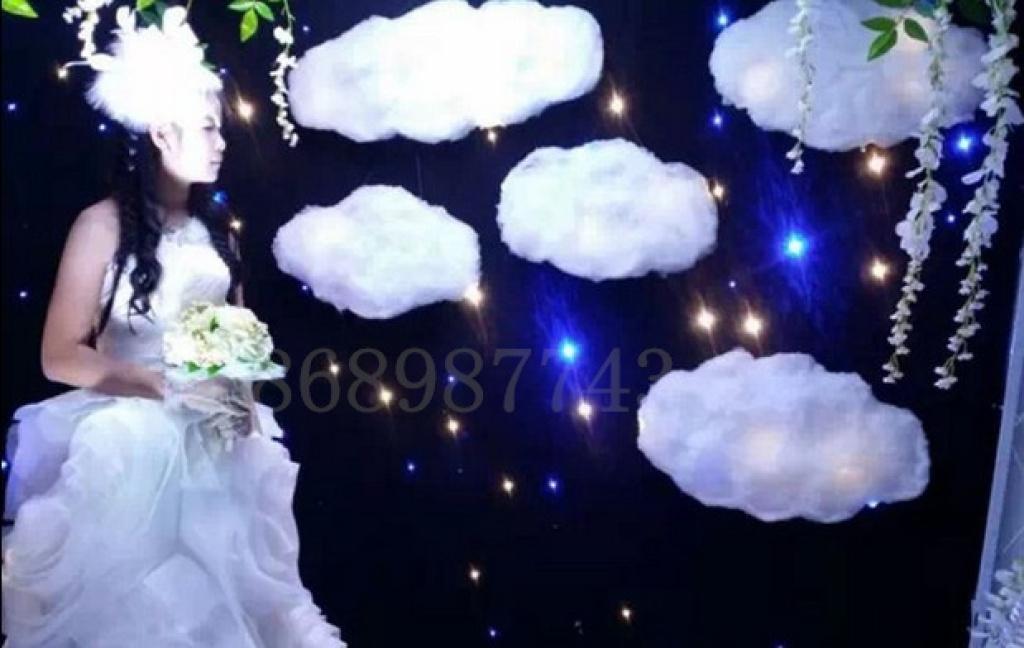 棉花雪花白云云朵彩云婚礼布置摄影