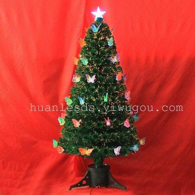 butterfly christmas tree led fiber optic christmas tree ornament tree - Led Fiber Optic Christmas Tree
