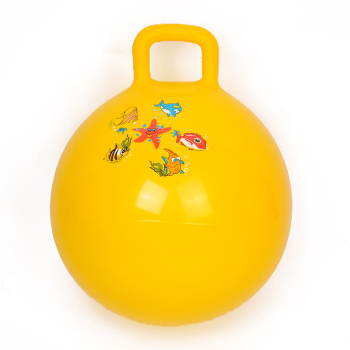 Factory direct PVC inflatable toys 45cm handle the ball bouncing ball