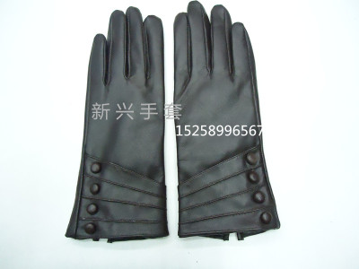 New ladies leather gloves with long leather gloves and gloves.