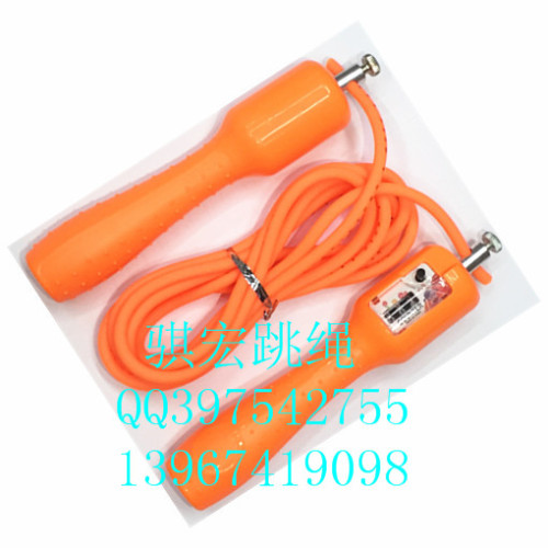 A macro students'standard rope outer bearing non slip handle plastic rope skipping adult fitness
