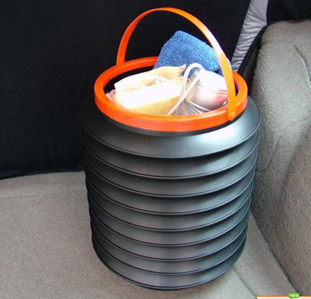 车载魔术伸缩桶 垃圾桶