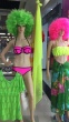 Foreign trade neoprene explosion models Bikini triangl with poly ring spot swimsuit