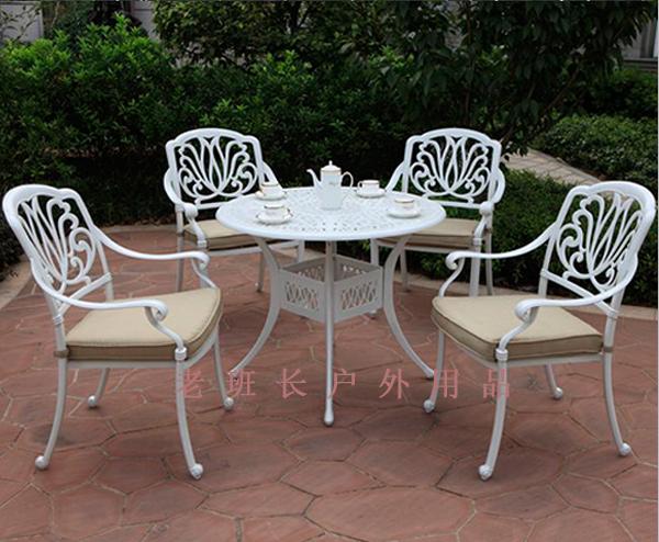 欧式别墅庭院铝合金桌子椅子户外休闲豪华高档铸铝_老