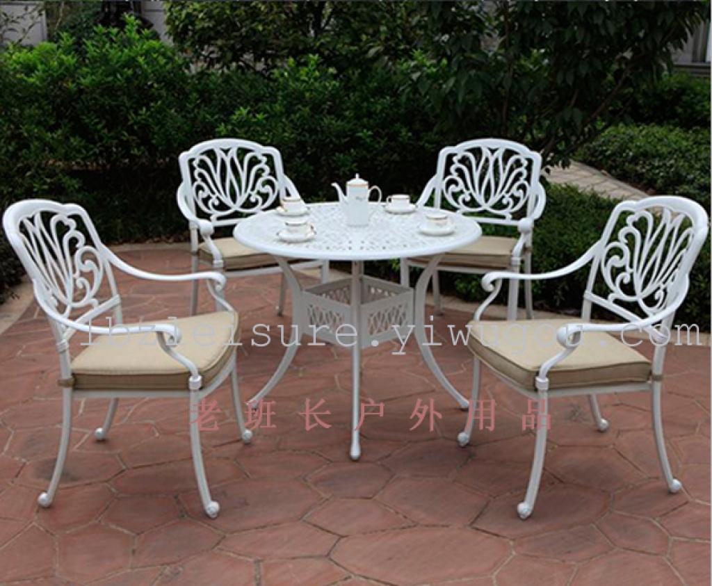 欧式别墅庭院铝合金桌子椅子户外休闲豪华高档铸铝桌
