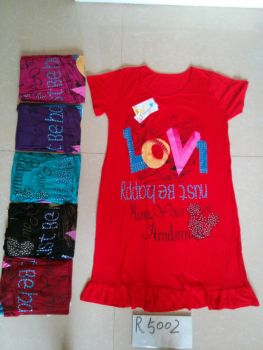 Foreign trade dress wholesale manufacturers selling ladies pajamas nightdress R5002 long sleeved modal