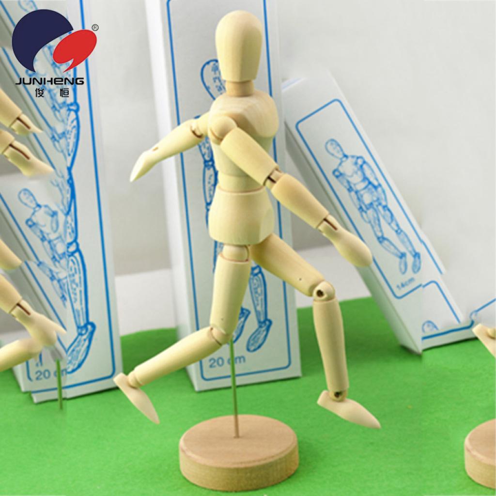模型 木头人 关节人 素描漫画木偶人jh-8寸小木人