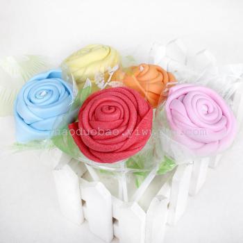 手工折玫瑰花 彩色玫瑰海绵折纸 手工折纸 0526054