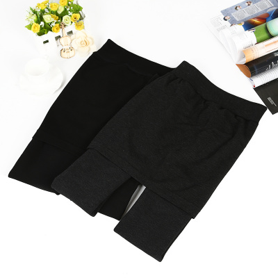 The new development of bamboo charcoal with Korean warm pants foot tights velvet skirt