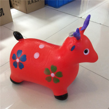 Inflatable toys PVC jumping horse painting music explosion thickening