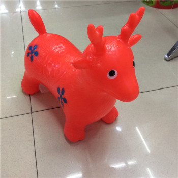 Inflatable toys PVC thickened explosion-proof painted jumping horse jumping deer outdoors