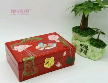 婚庆用品 结婚用品 高档红色烤漆梳妆台 手饰盒