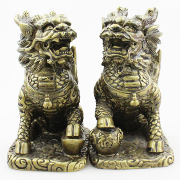 Ten yuan shop distribution resin handicraft imitation copper ornaments series of new imitation copper kylin
