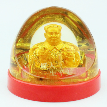Creative new home car decoration plastic arts and crafts safety in the safety of chairman MAO
