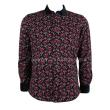 Factory direct sales business man long sleeved shirt shirt warm winter floral thickening
