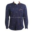 Warm winter long sleeved with cashmere wash strong men's shirts