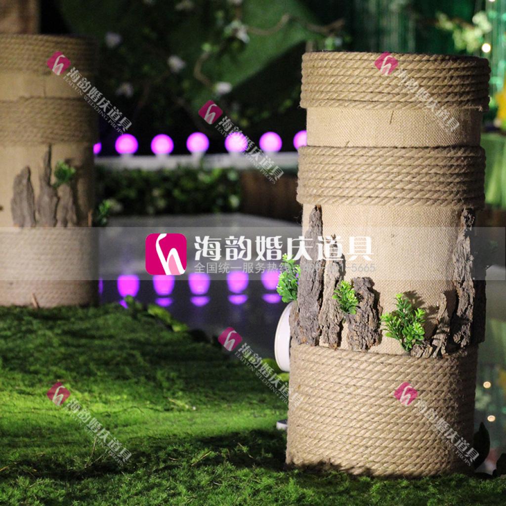 森林系婚礼舞台布置