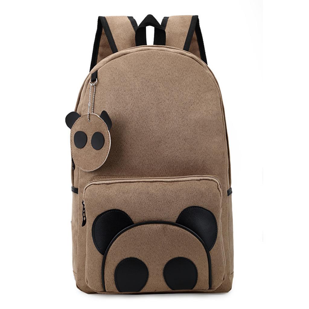 2015新款双肩包中学生书包卡通可爱熊猫书包