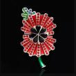 British Princess with a diamond brooch pin poppies