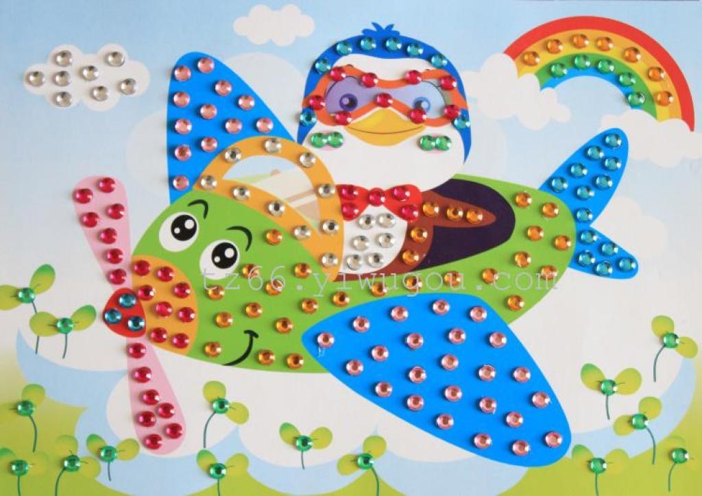 儿童益智玩具马赛克贴画钻石画手工制作粘贴纸