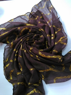 Knitting raw materials wholesale hot chain Bali long scarf scarf yarn fabric
