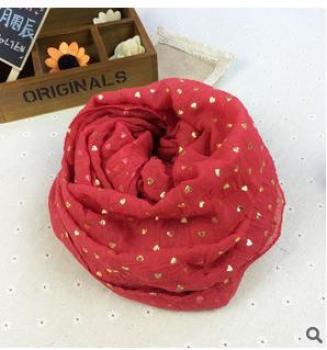 Paris yarn knitted fabric TR cotton scarf bronzing love