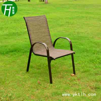 Factory direct sale teslin stacking chair with glass table