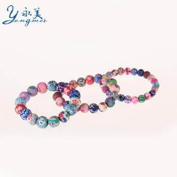 Ls Bracelet folk style bracelets Bracelet female Jingdezhen handmade soft ceramic ornaments