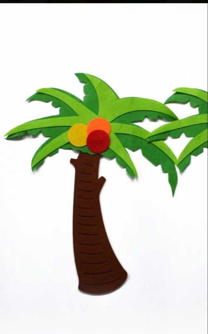 幼儿园装饰品 学校环境场景布置 卡通无纺布椰子树