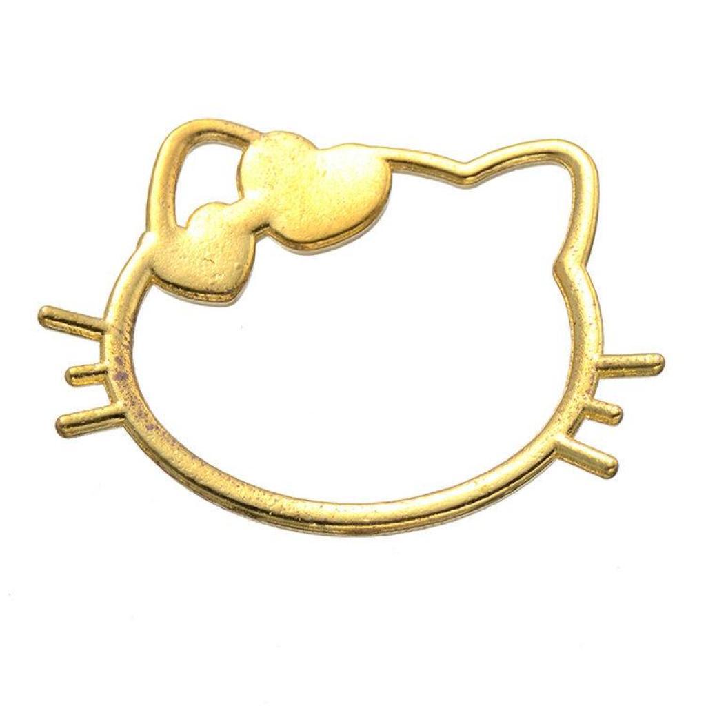 凯蒂猫头框架 diy合金饰品镂空猫头边框