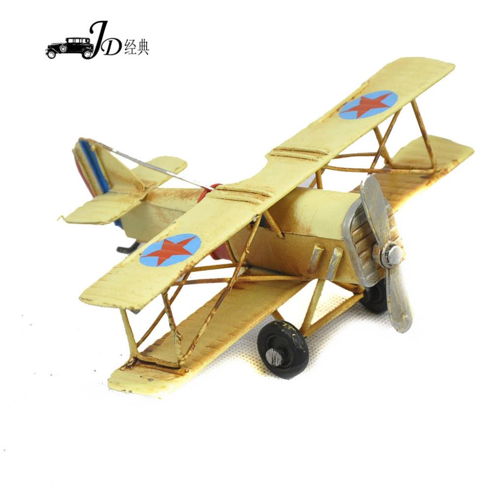 创意复古铁艺小飞机模型