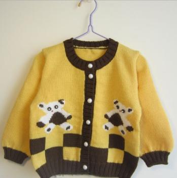 批发手工编织毛衣婴儿毛衣外套