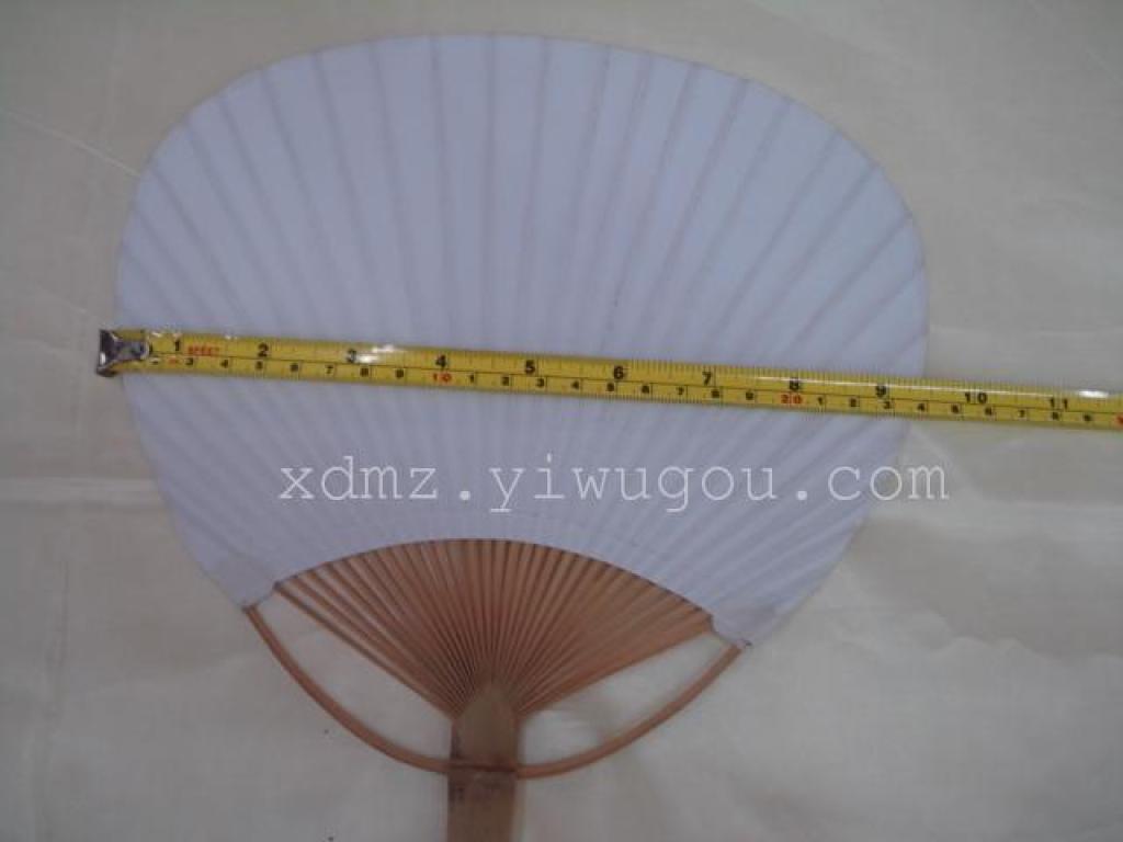 日式日本空白纯白白色团扇扇子