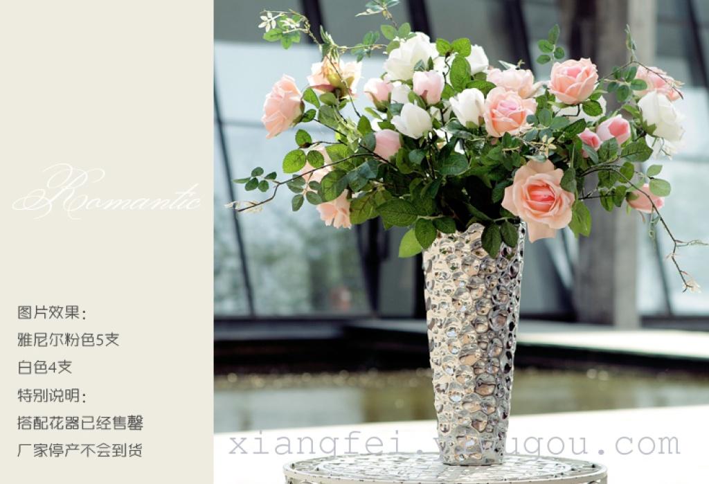 粉色山茶花 山茶花 绢花 假花 欧式客厅茶几装饰