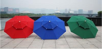 Step by step business luxury double deck umbrellas, Garden umbrellas, post office