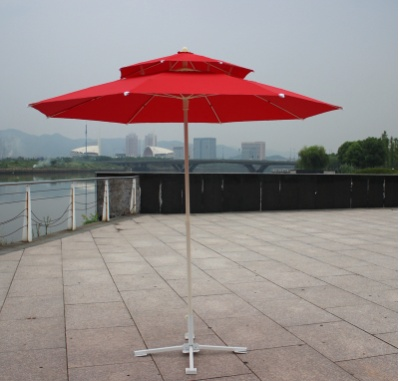Step by step business luxury double deck umbrellas, Garden umbrellas, post office