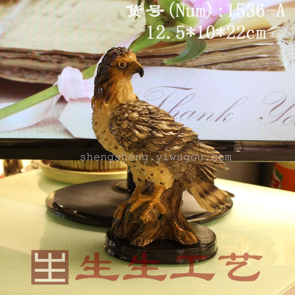 树脂动物侧身老鹰1536a