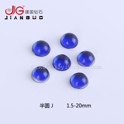 Factory direct supply half round smooth acrylic diamond jewelry accessories DIY Manicure drill drill