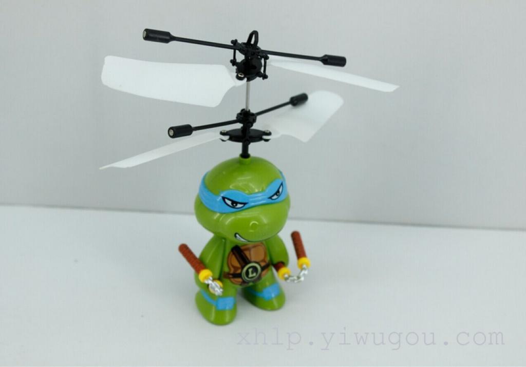 感应遥控忍者神龟飞行器 感应飞机 儿童玩具