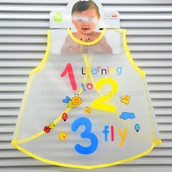 EVA baby dress smock waterproof anti summer children painting Korean baby clothes apron