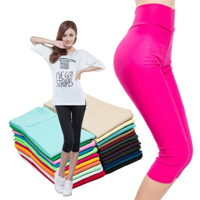 Thin size slim cropped pants stretch slim summer high waist pencil pants Footless