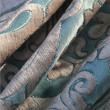 Blue Classic chenille sofa fabric Chair bags fabrics wholesale