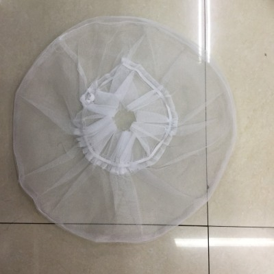 Pure white lace fan cover fine fine net mesh dust cover to protect your baby finger