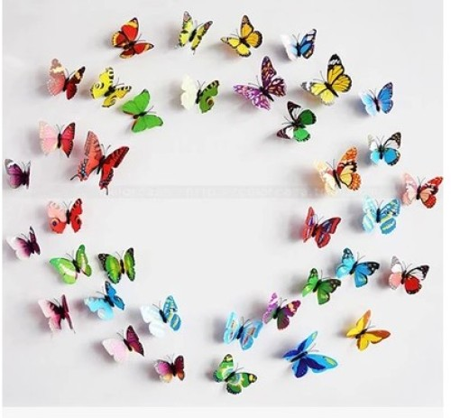 Artificial flower Butterfly ornament bouquet auxiliary accessories flowers gift gifts packaging materials