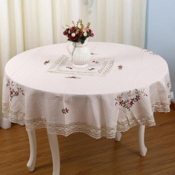 长方形桌布圆形桌布绣花桌布方形餐桌布欧美桌垫