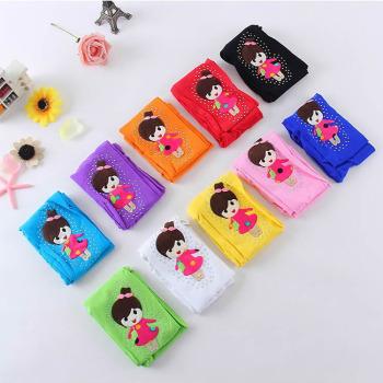 Female velvet base seasons pantyhose Cartoon Doll socks and Candy-colored child pantyhose