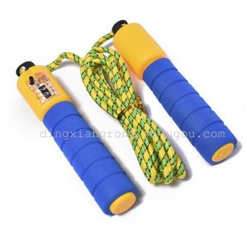 厂家直销 计数海绵手柄跳绳可调节长短健身专用跳绳